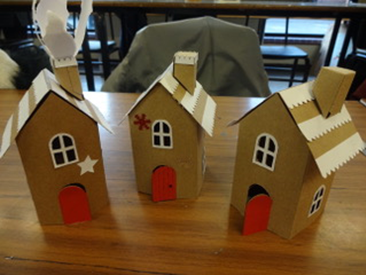 Gingerbread houses at Bourne Academy