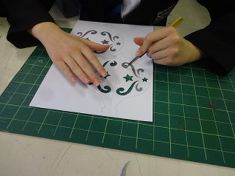 Papercutting at Bourne Academy