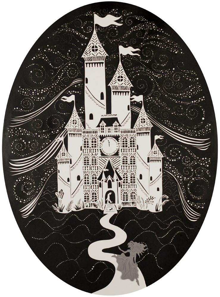 Cinderella at midnight illustration