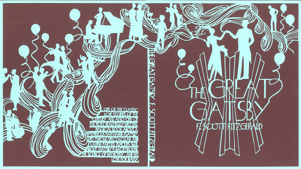 the great gatsby book jacket design