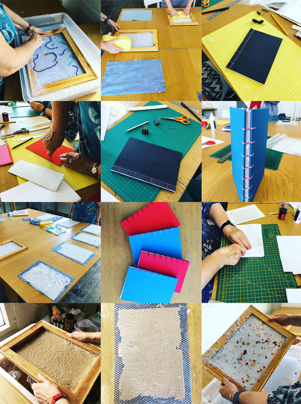 Bookbinding workshop at The Steel Rooms, Brigg