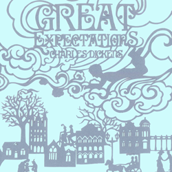Great Expectations book jacket design thumbnail