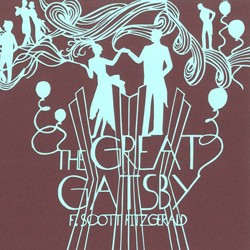 The Great Gatsby book jacket design thumbnail